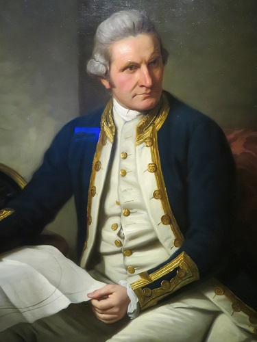 Nathanial Dance's portrait of Captain Cook