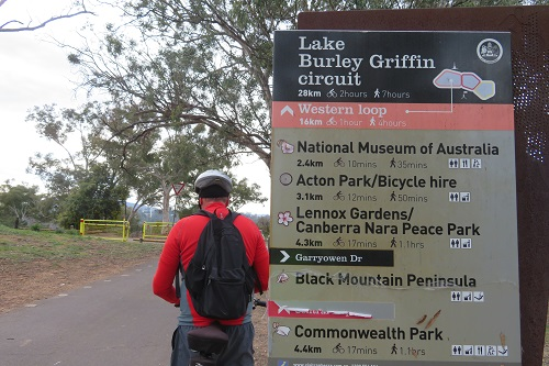 Signage around Lake Burley Griffin