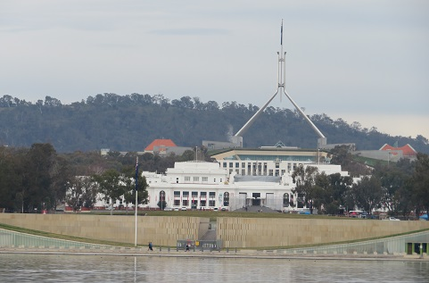 Views of Old and New Parliament House at, Lake Burley Griffin