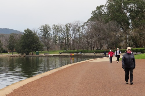 Walkers on the Central Loop of Lake Burley Griffin
