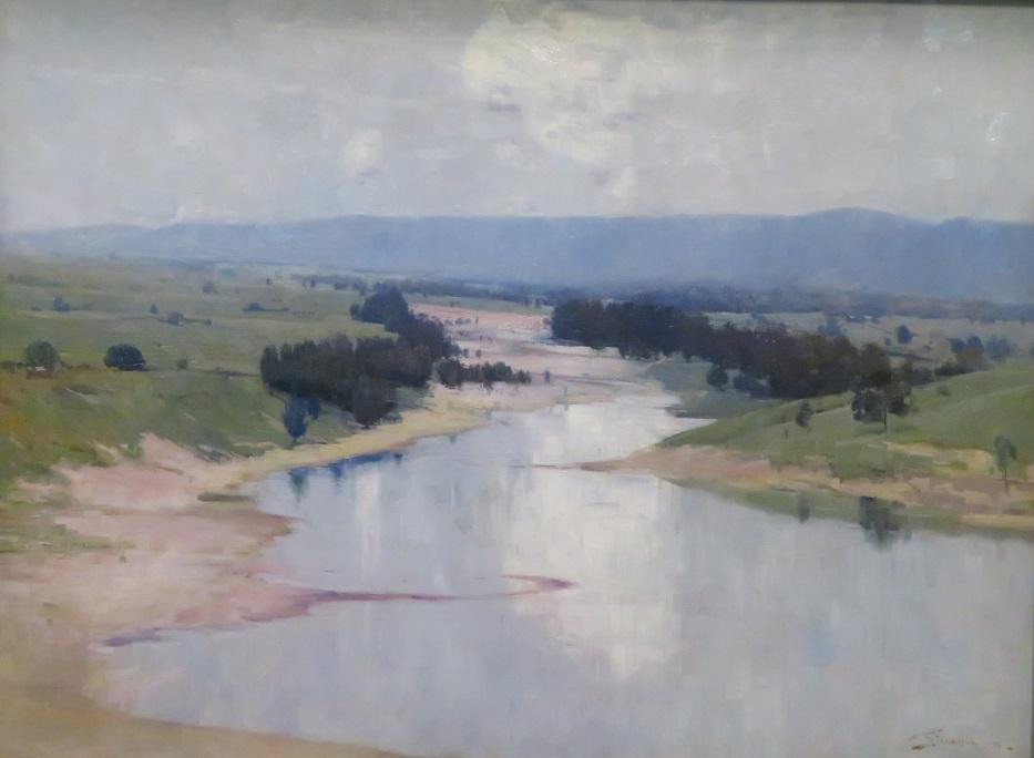 Arthur Streeton Painting - The River 1896