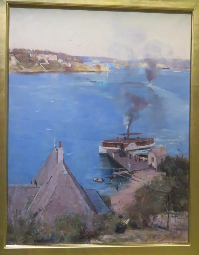 Arthur Streeton - From McMahons Point - Fare 1 penny - 1890