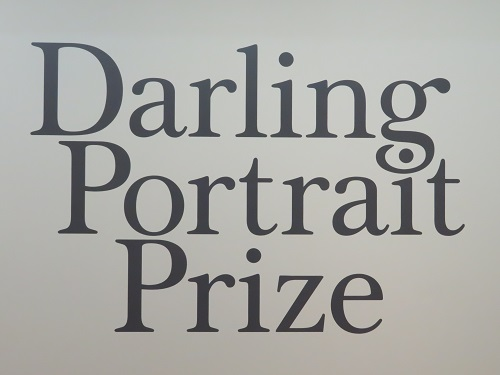 The Darling Portrait Prize sign