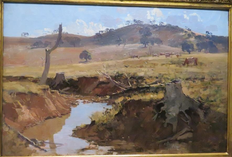 Arthur Streeton - The creek - 1925
