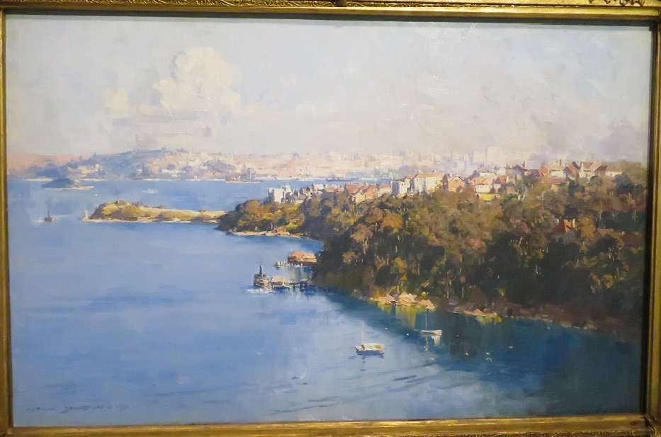 Arthur Streeton - The harbour from Mosman - 1926