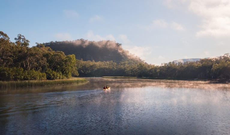 Kayaking on Dunns Swamp - Wollemi National Park.