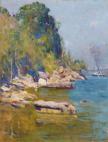 Arthur Streeton's painting of Sirius Cove