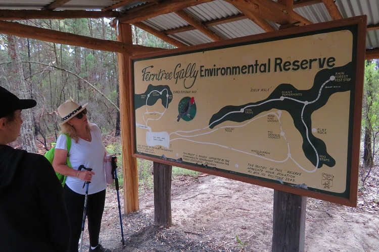 Information signage at Fern Tree Gully Reserve
