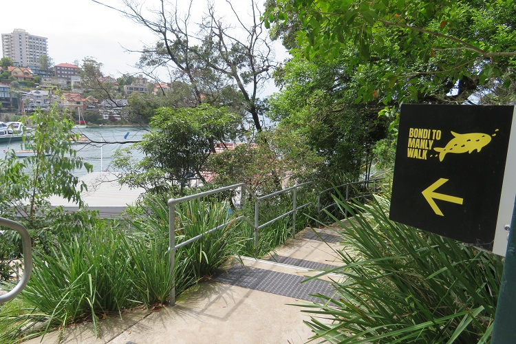 Signage for the Bondi to Manly path - Sydney's North Shore