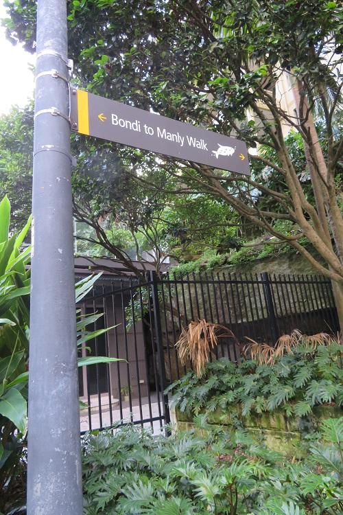 Bondi to Manly Path signage