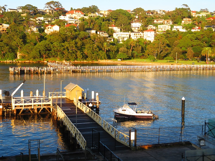 Looking over Chowder Bay and old Submarine Depot
