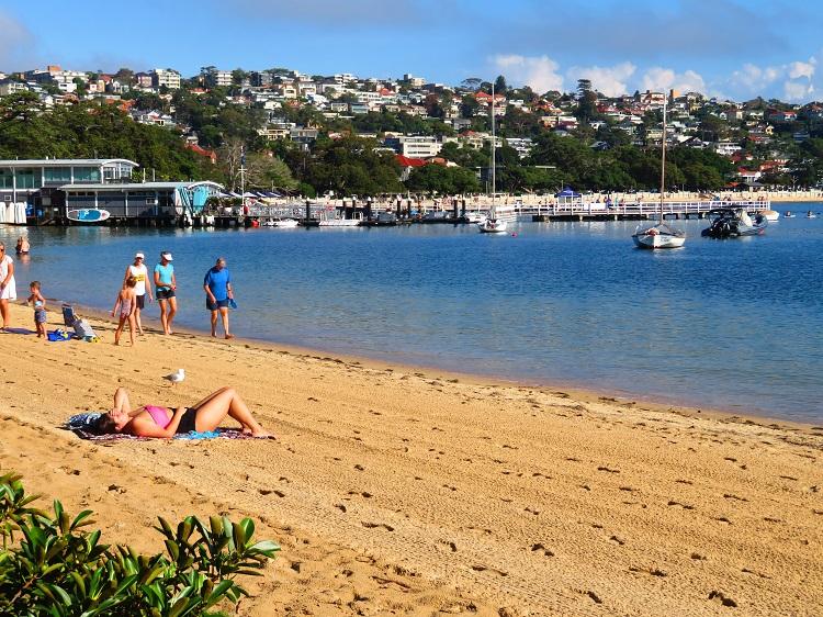 Saturday swimmers at Balmoral Beach