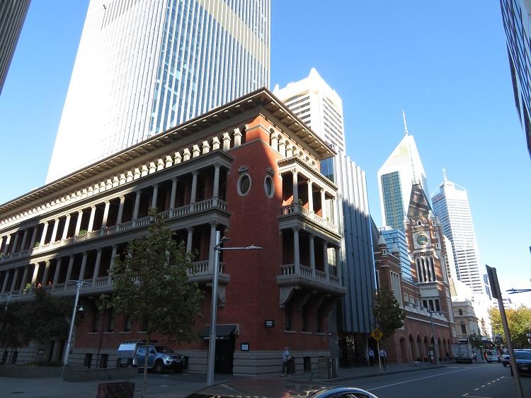 Old vs New buildings in Perth