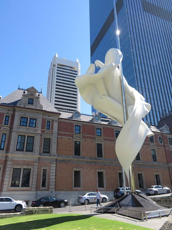 Sculpture on the streets of Perth