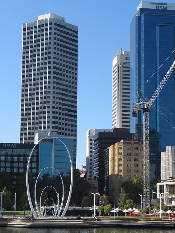 Sculpture at Elizabeth Quay, Perth WA