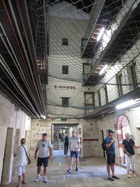 Inside the main prison building