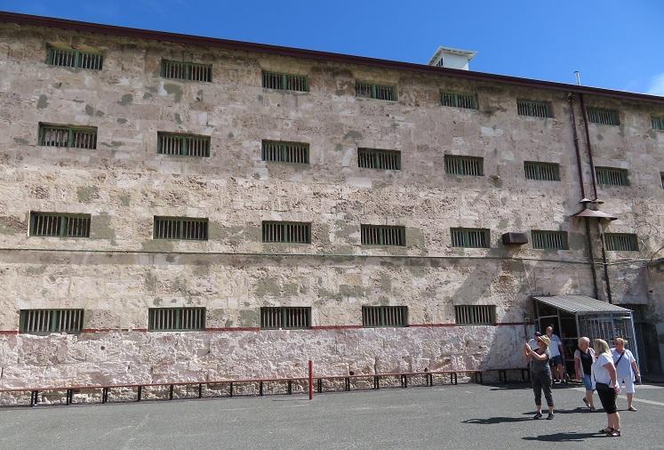 Imposing walls at Fremantle Prison
