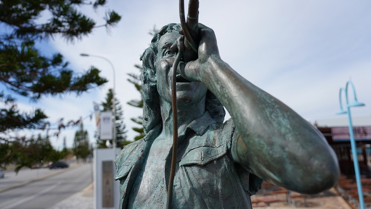 Bon Scott Statue, Fremantle Western Australia