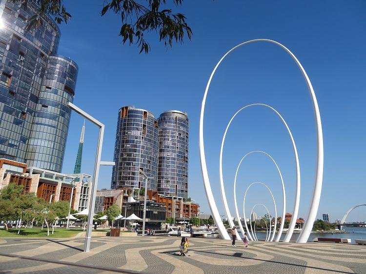 The Elizabeth Quay area in Perth