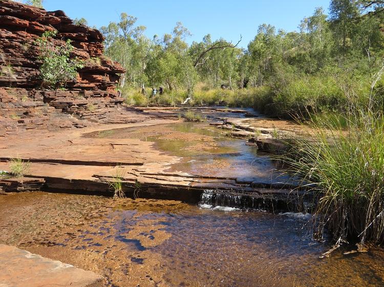 Rock pool at Kalamina Gorge, Karijini National Park Western Australia