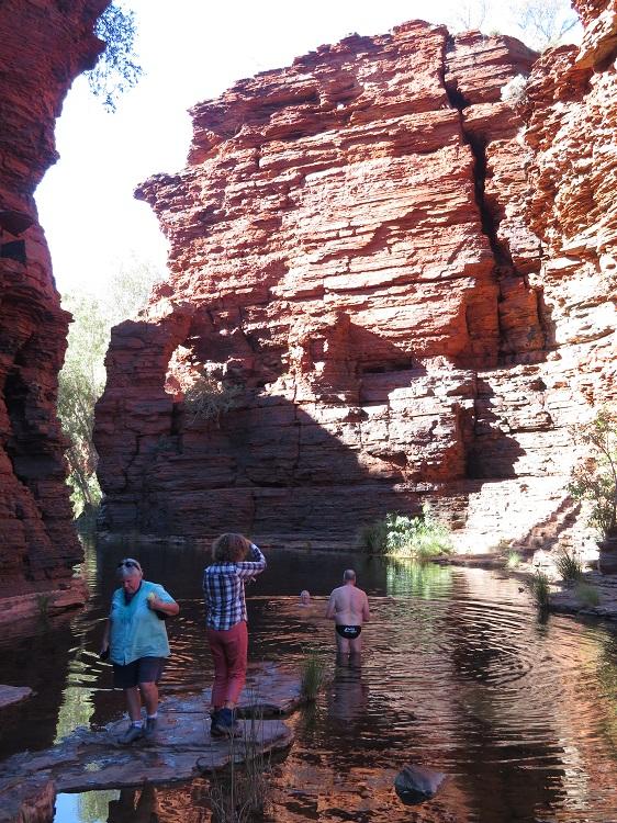 Rock Arch pool at Kalamina Gorge, Karijini National Park Western Australia