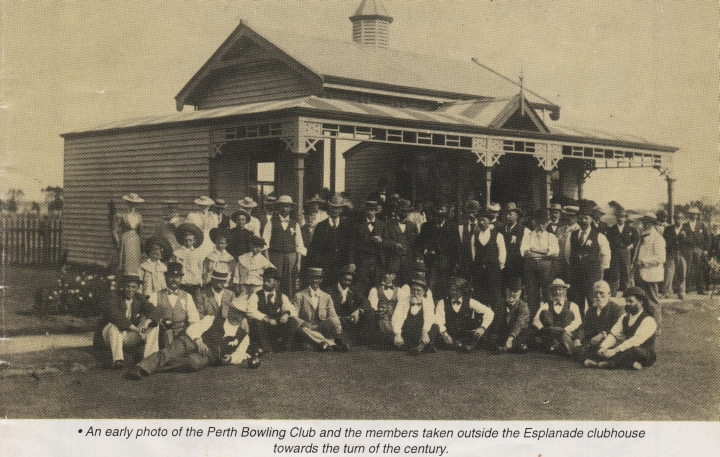 Historic photo of Perth Bowling Club and Esplanade Clubhouse