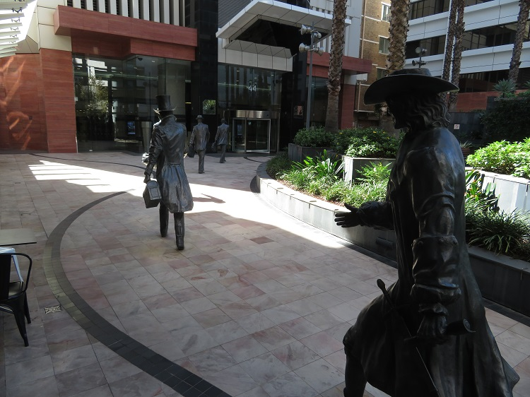 Footsteps in Time Bronze Sculpture in Perth CBD