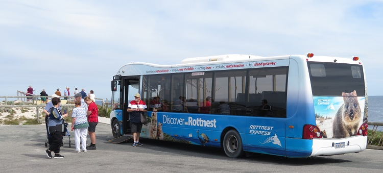 Tour bus on Rottnest Island
