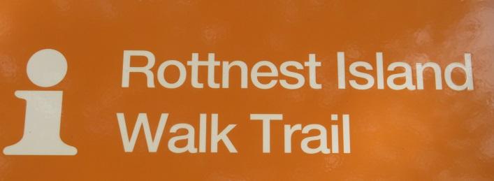 Rottnest Island walking trail sign