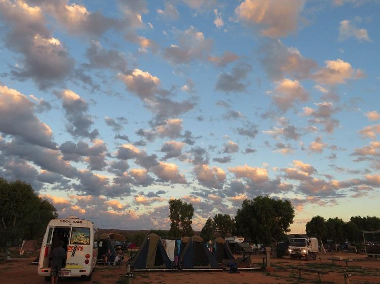 Camping under cloudy skies at Yardie Homestead