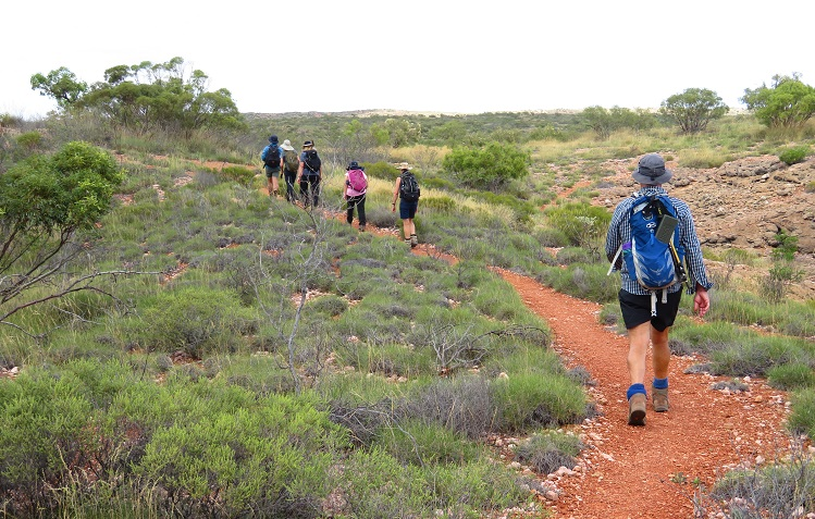 Walking in Cape Range National Park, Western Australia