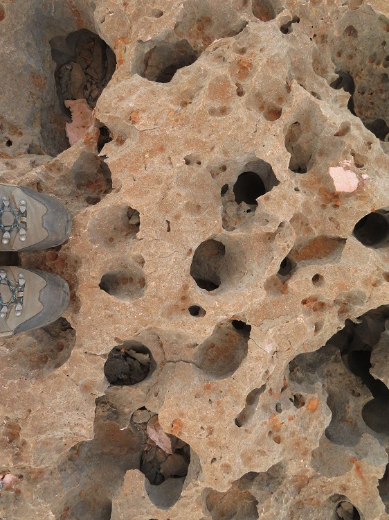 Interesting rocks in Cape Range National Park, Western Australia