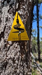 Waugul - way marker on the Bibbulmun Track. Source: flickr